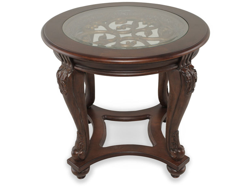 Norcastle Round End Table - Al Rugaib Furniture (9437315666)