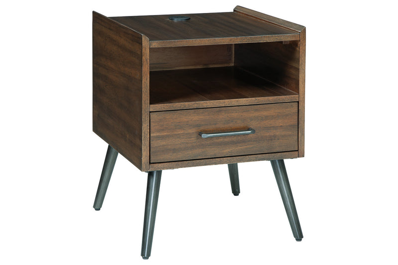 Calmoni End Table with USB Ports & Outlets (4792302796896)