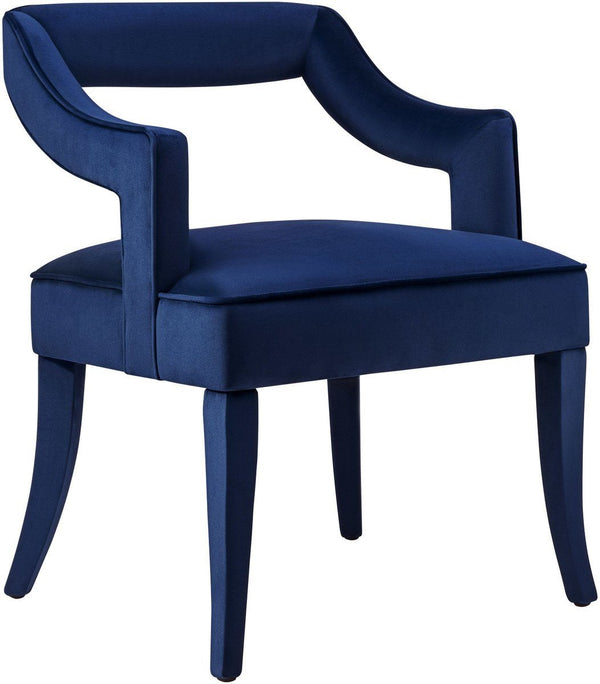 Tiffany Navy Velvet Chair - Al Rugaib Furniture (4609075806304)