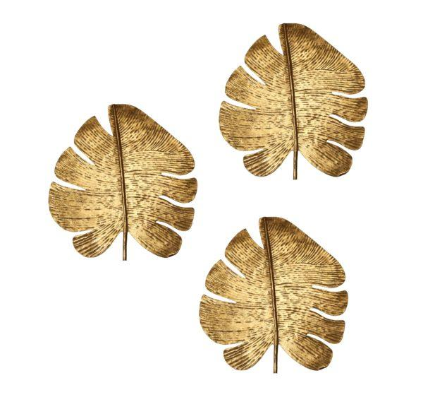 Gold Leaf Wall Art – Set of 3 - Al Rugaib Furniture (2282352607328)