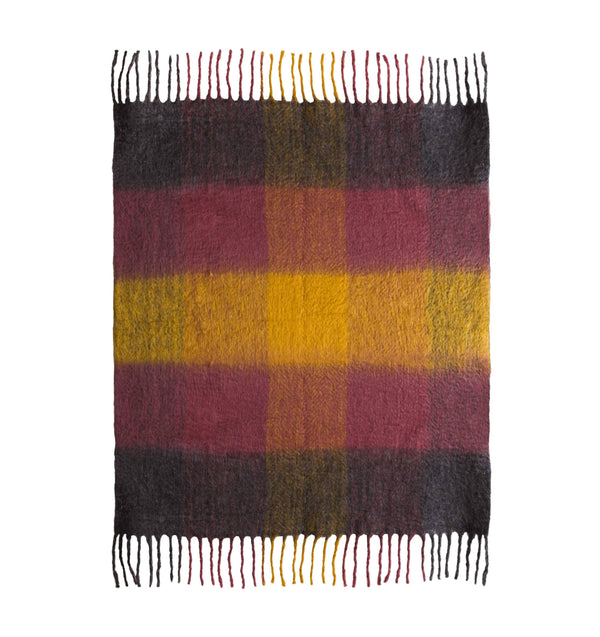 Afrino Wool Colored Throw - Al Rugaib Furniture (4576360431712)