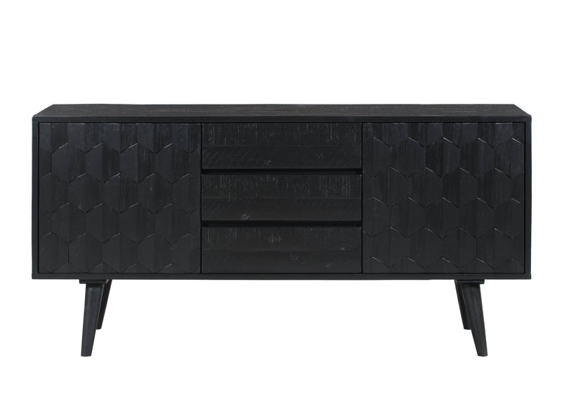 Valentina Black Buffet - Al Rugaib Furniture (4576531808352)