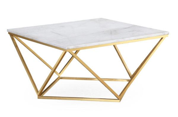 Leopold White Marble Cocktail Table - Al Rugaib Furniture (2256815587424)