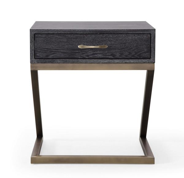 Mason Black Side Table - Al Rugaib Furniture (2283036704864)