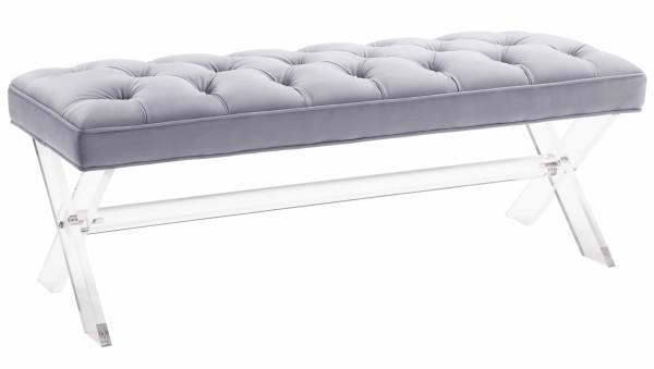 Claira Grey Lucite Bench - Al Rugaib Furniture (2256802021472)