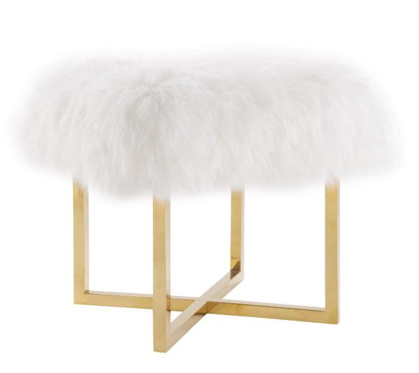 Nomo Sheepskin Bench - Al Rugaib Furniture (2256805068896)