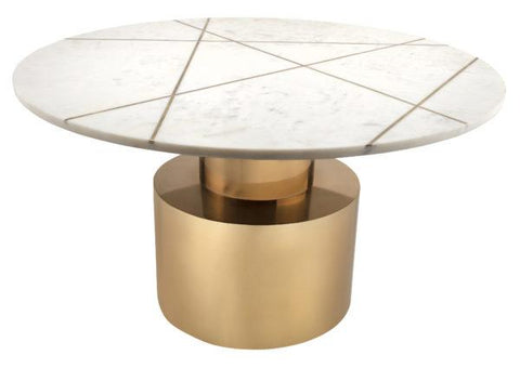 Terzo White Marble Coffee Table