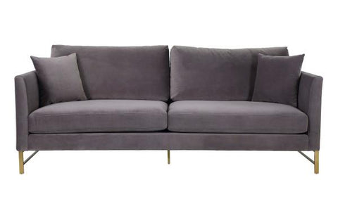 Massi Grey Velvet Sofa