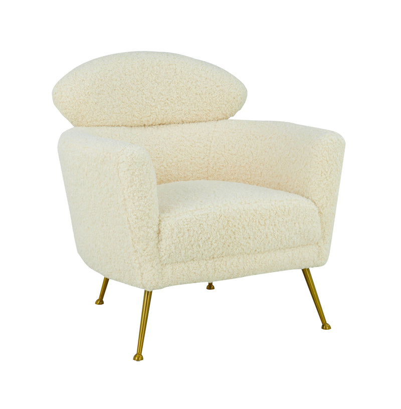 Welsh Faux Shearling Chair - Al Rugaib Furniture (4576534265952)