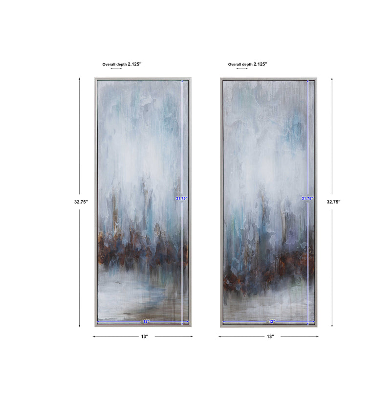 Uttermost -Rainy Days Hand Painted Canvases, S/2 (6536339193952)