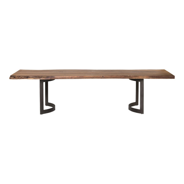 Bent Dining Table Small Smoked - Al Rugaib Furniture (4568058986592)