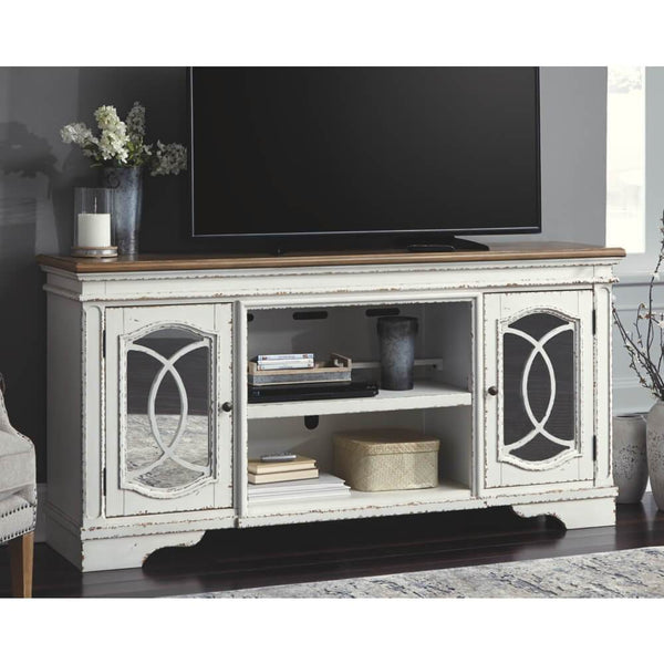 Realyn XL TV Stand w/Fireplace Option - Al Rugaib Furniture (2223376760928)