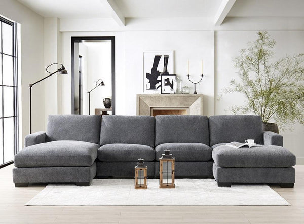 Grey Comfort Sectional - Al Rugaib Furniture (4569279365216)