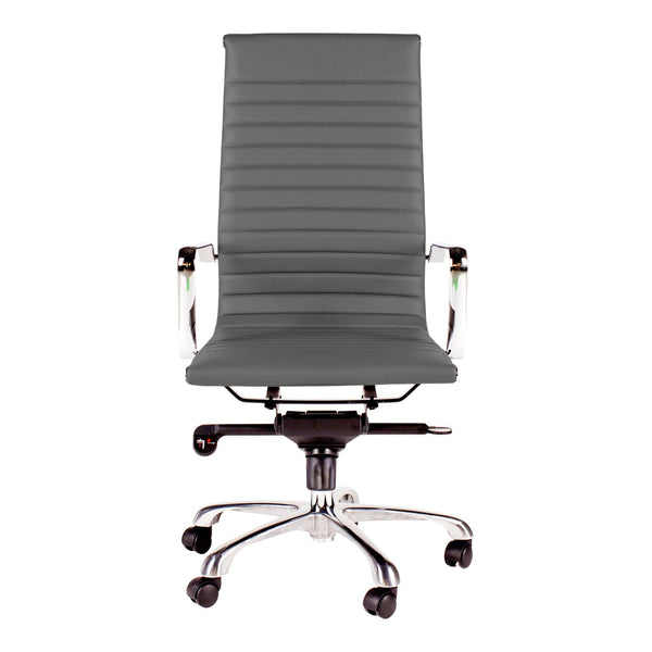 OMEGA SWIVEL OFFICE CHAIR HIGH BACK GREY (4583200784480)