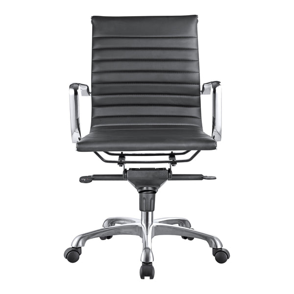 OMEGA SWIVEL OFFICE CHAIR LOW BACK BLACK (4583200948320)