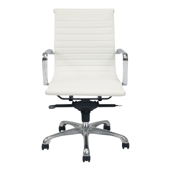 OMEGA SWIVEL OFFICE CHAIR LOW BACK WHITE (4583209697376)