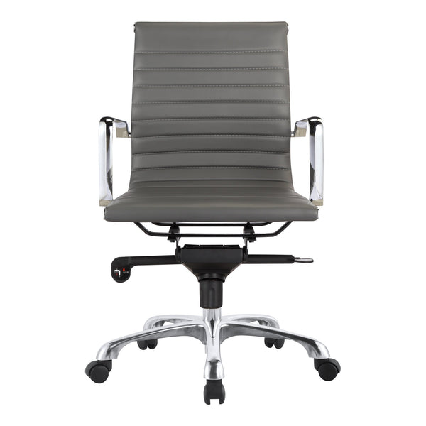 OMEGA SWIVEL OFFICE CHAIR LOW BACK GREY (4583169753184)