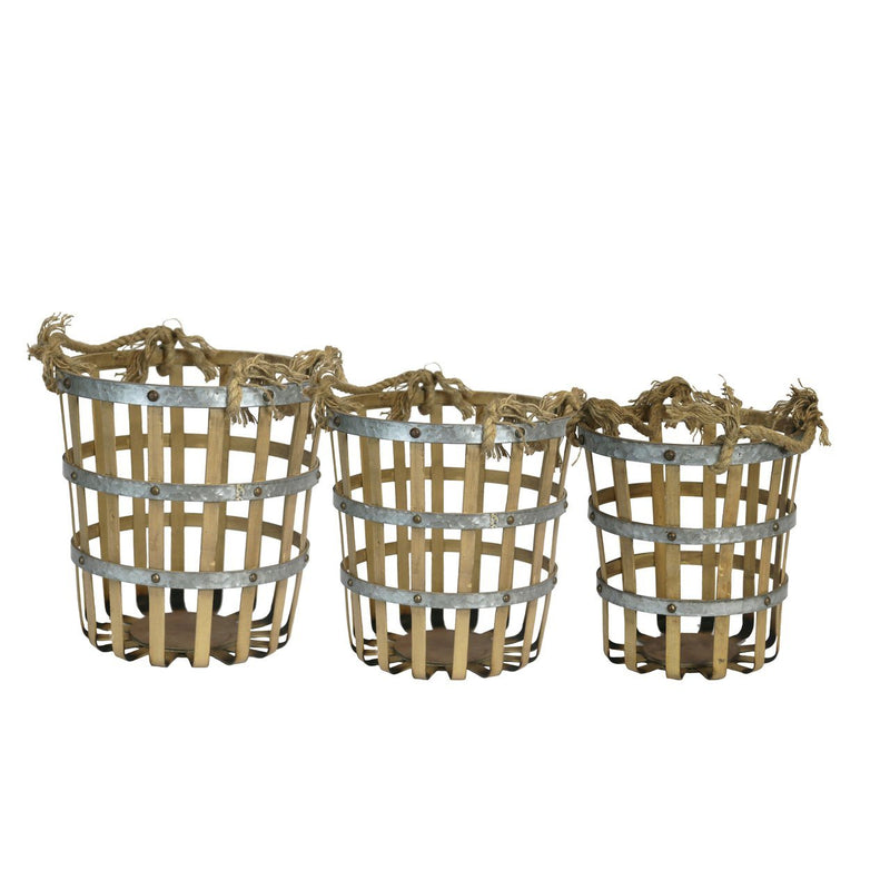 S/3 BAMBOO/METAL BASKETS (4494669316192)