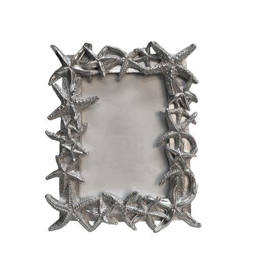 "POLYRESIN 5X7"" STARFISH PHOTO FRAME, SILVER - Al Rugaib Furniture (4598735274080)"
