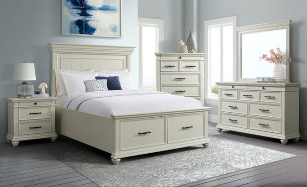 Slater White Bedroom Set - Al Rugaib Furniture (4703347933280)