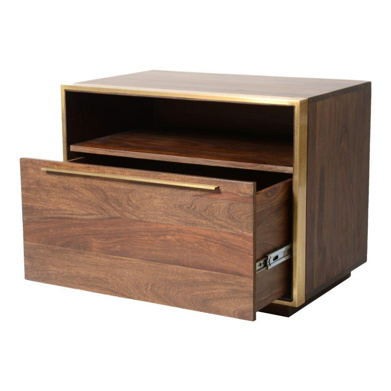 Focus Nightstand - Al Rugaib Furniture (4583265894496)