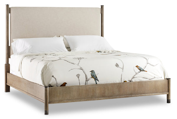 Cal King Upholstered Bed - Al Rugaib Furniture (4688803627104)