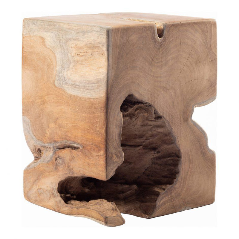 Natural Teak Wood End Table - Al Rugaib Furniture (4568058364000)