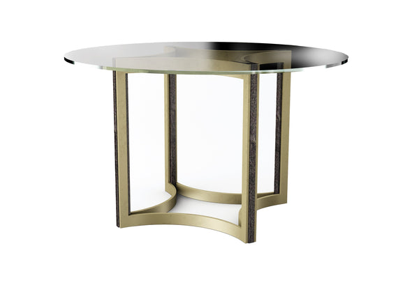 "Modern Artisan Remix - Remix Glass Top Table 48"" - Al Rugaib Furniture (4576444055648)"