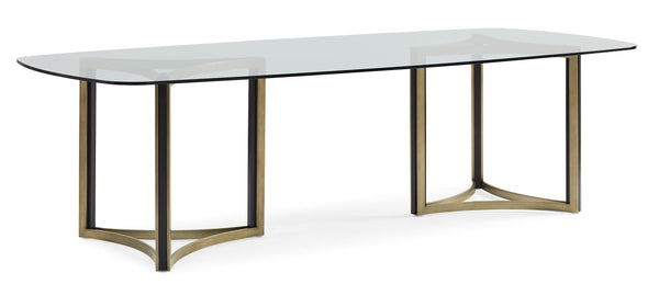 Modern Artisan Remix - Remix Dbl Ped Glass Top Tbl - Al Rugaib Furniture (4576444252256)