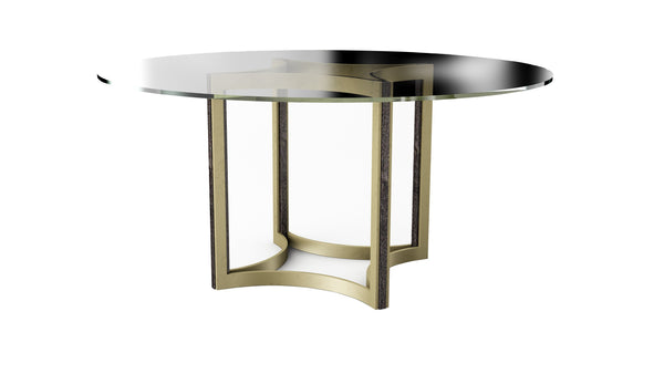 "Modern Artisan Remix - Remix Glass Top Table 60"" - Al Rugaib Furniture (4576444317792)"