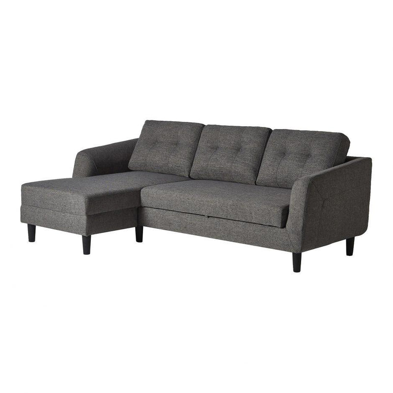 Belagio Sofa Bed White Chaise Charcoal Left - Al Rugaib Furniture (4583224148064)