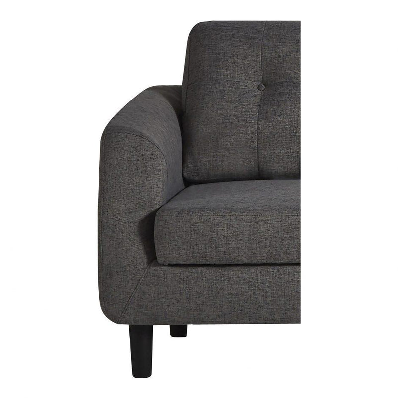 Belagio Sofa Bed Wiht Chaise Charcoal Right - Al Rugaib Furniture (4583219331168)