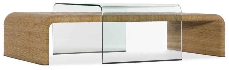Rope and Glass Cocktail Table - Al Rugaib Furniture (4688745168992)