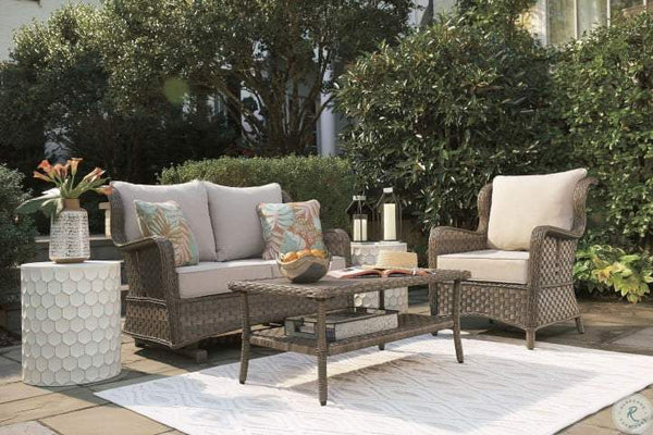 Clear Ridge Light Brown Outdoor Set - Al Rugaib Furniture (4494653390944)