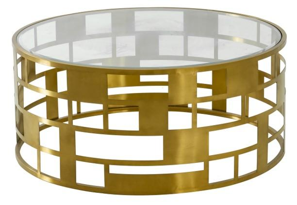 Coiled Gold Coffee Table - Al Rugaib Furniture (4602279002208)