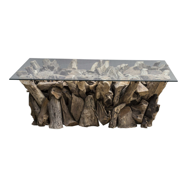 TEAK ROOT COFFEE TABLE - Al Rugaib Furniture (4707359162464)