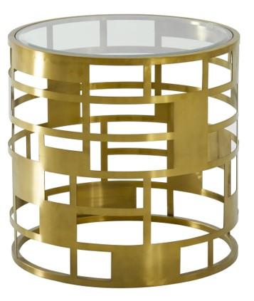 Coiled Gold End Table (4602285162592)
