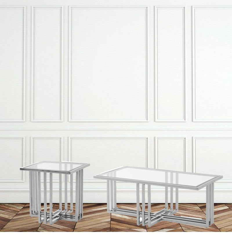 Endless Silver End Table - Al Rugaib Furniture (4602229129312)