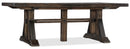 Trestle Dining Table w/2 21in leaves - Al Rugaib Furniture (4688742809696)