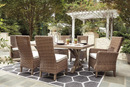 Beachcroft Dining Table with Umbrella Option (2207180062816)