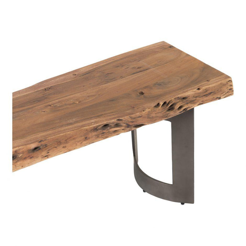 Bent Bench Small Smoked - Al Rugaib Furniture (4568059019360)