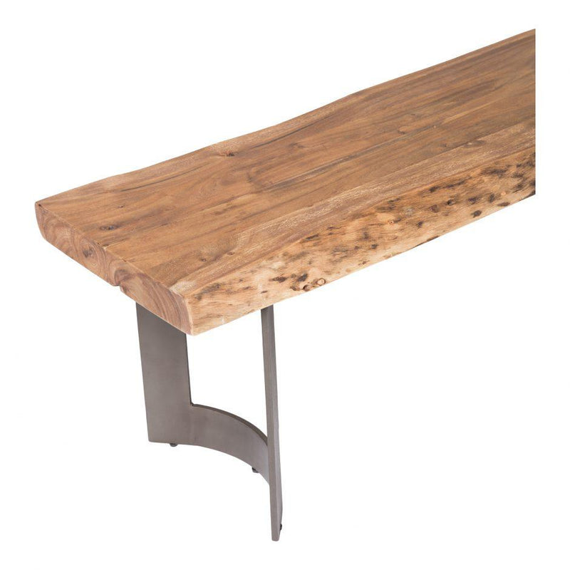 Bent Bench Extra Small Smoked - Al Rugaib Furniture (4583189676128)
