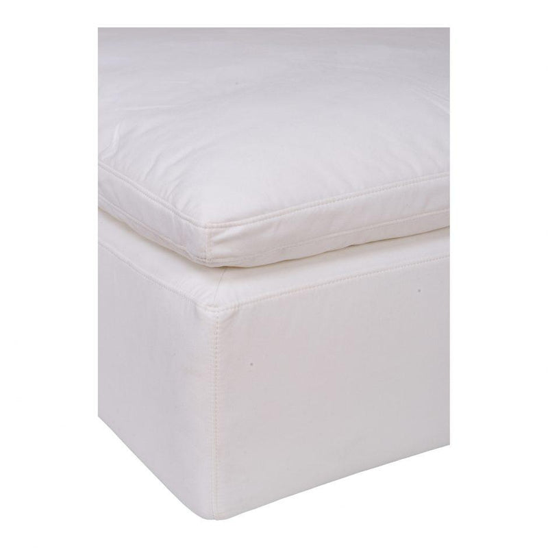 Clay Ottoman Livesmart Fabric Cream - Al Rugaib Furniture (4583261896800)