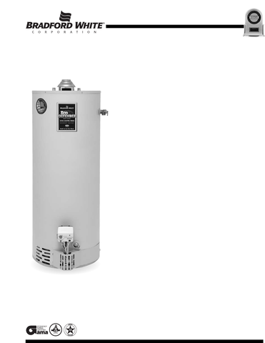 GAS UPRIGHT WATER HEATERS - RESIDENTIAL HIGH EFFECIENCY ULTRA LOW NOX ENERGY SAVER - U4 SERIES