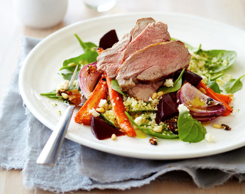 Warm Lamb, Carrot and Beetroot Salad