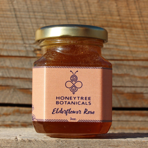 Elderflower Rose Infused Honey