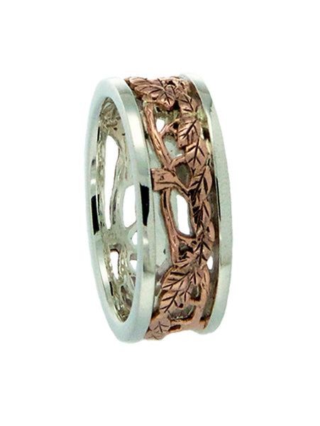 "Tree of Life ""Awe"" Ring Sterling Silver with 10k"