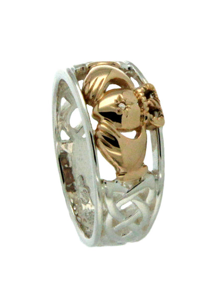 Claddagh Ring Diamond Set Heart