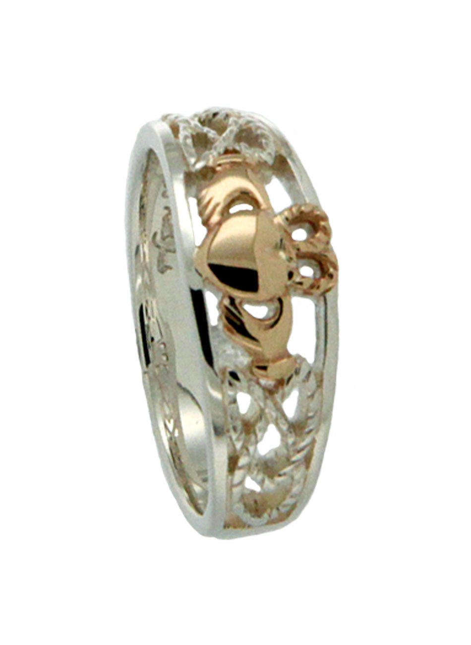 Claddagh Shield Ring Small