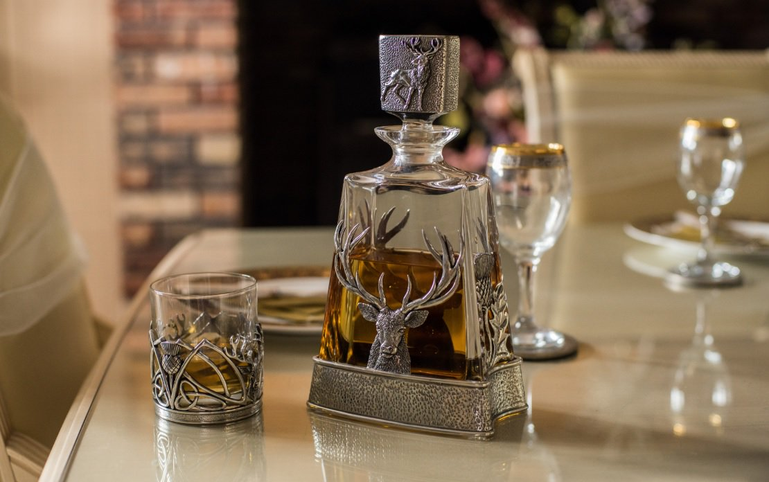 Solid Pewter Whisky Tumbler- Three designs available